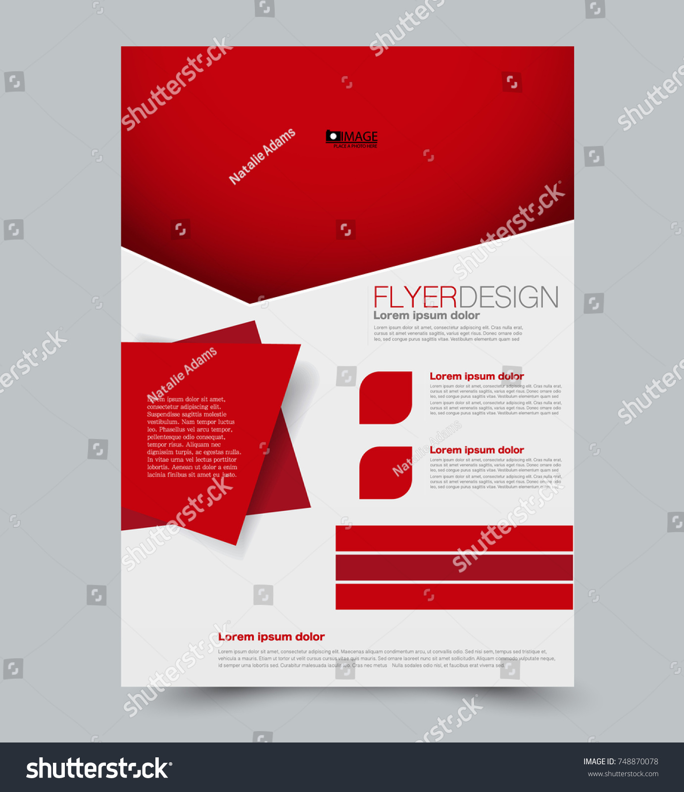 Red Vector Flyer Brochure Annual Report Stock Vector Royalty Free