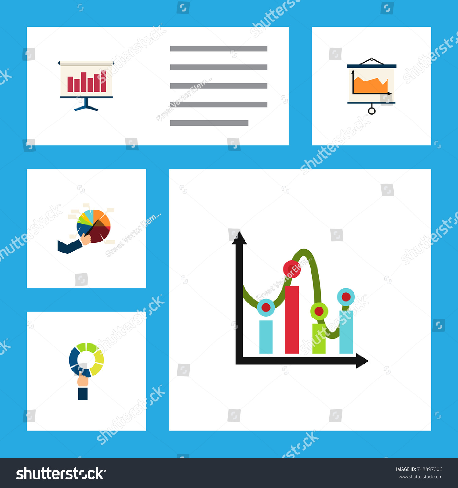 Flat icon chart set pie bar stock vector 748897006 shutterstock flat icon chart set of pie bar diagram chart and other vector objects nvjuhfo Gallery