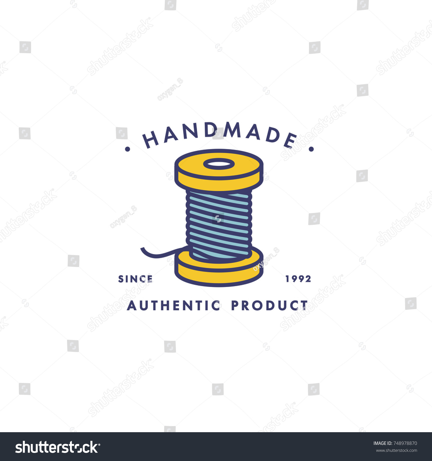 Spool threads icon vector isolated symbol stock vector 748978870 spool of threads icon vector isolated symbol of tailor tools for handmade clothing store or biocorpaavc Choice Image