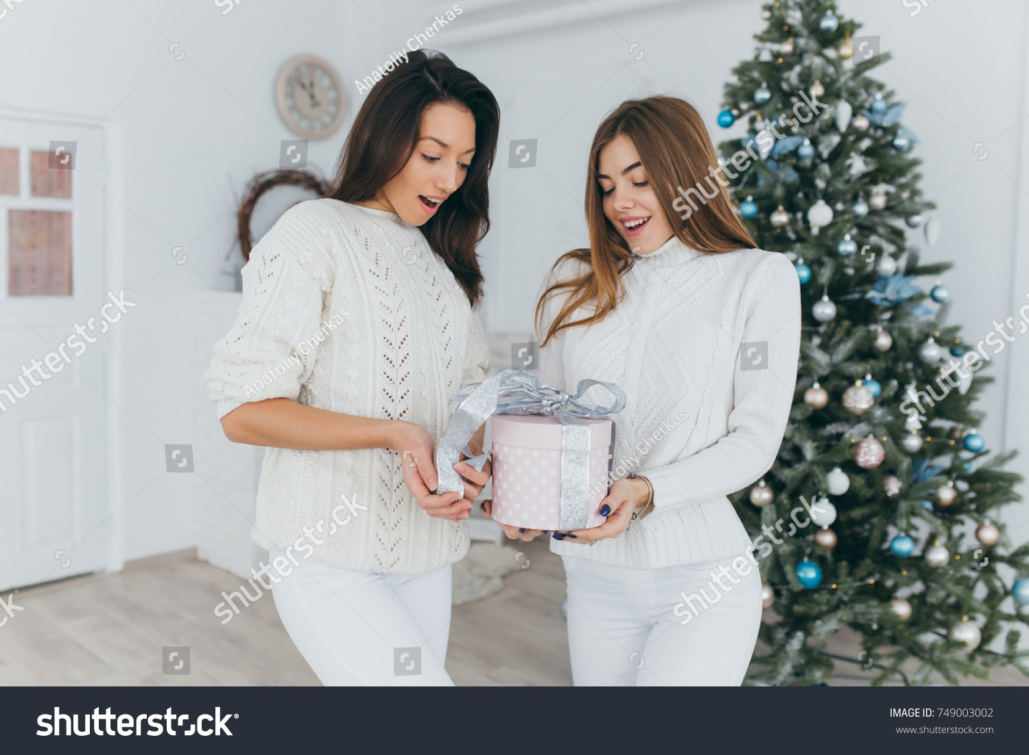 Two Happy Stylish Beautiful Girl Friends Stock Photo (Edit Now ...