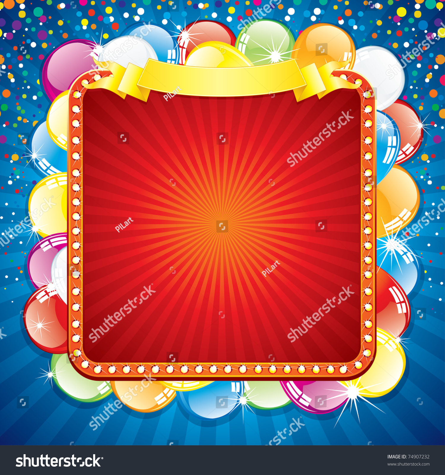 Happy Birthday Card Template Blank Colorful Vector 74907232 – Birthday Greetings Template