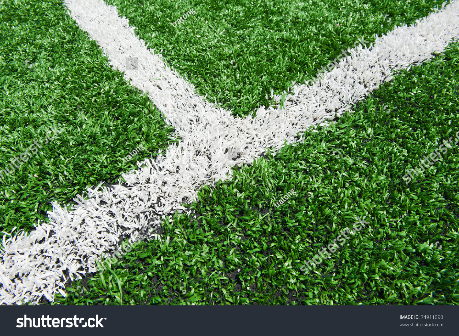 Intersecting Lines On A Field Of Play. Stock Photo ...