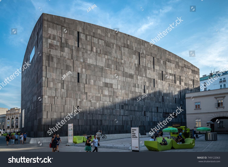 vienna austria august 17 2017 mumok museum at sunset it is - Modern Architecture Vienna