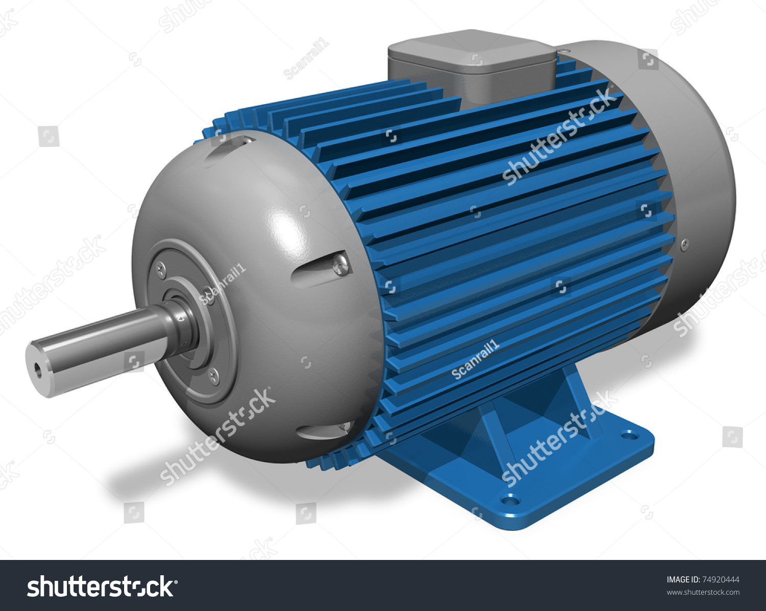 Industrial electric motor stock photo 74920444 shutterstock for Used industrial electric motors