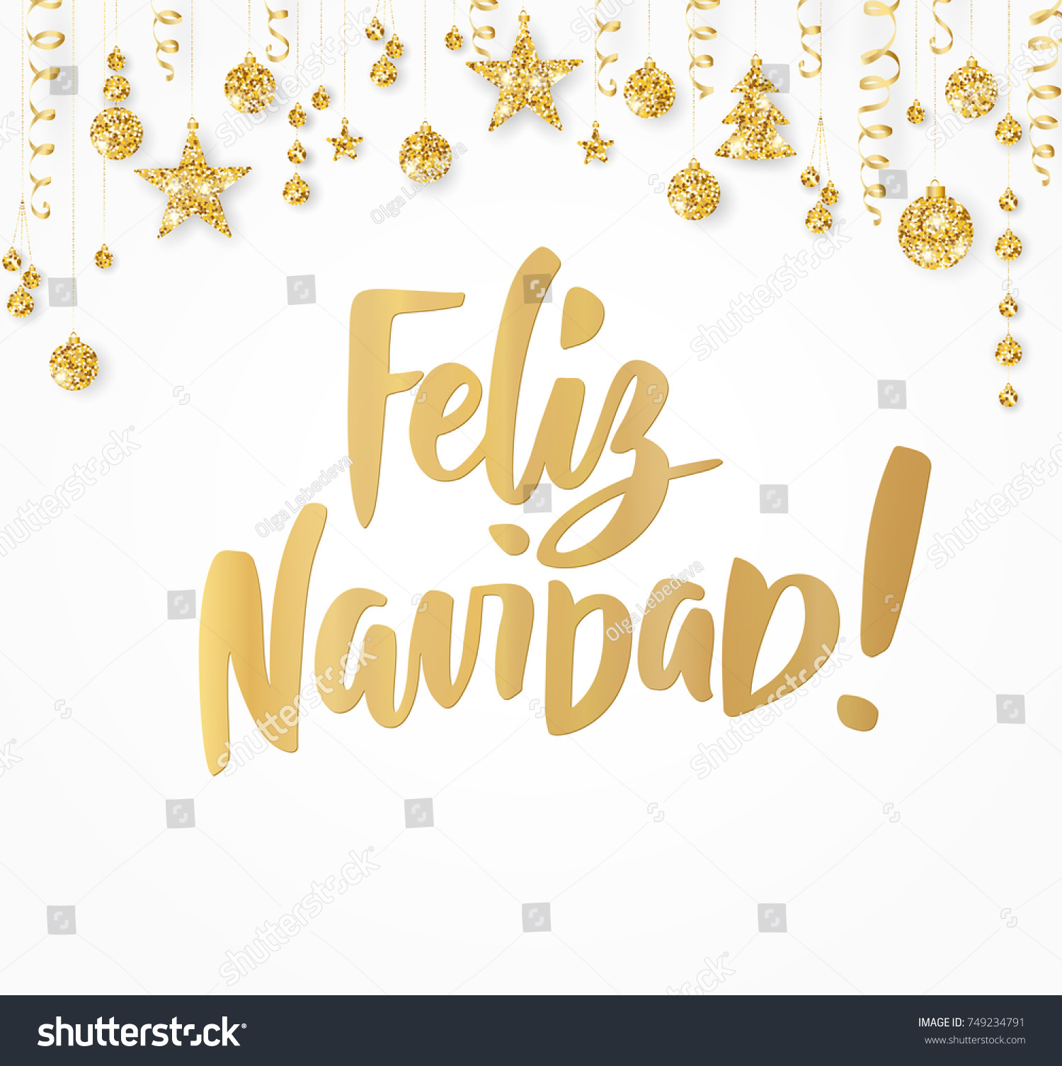 Feliz navidad merry christmas spanish quote stock vector 749234791 feliz navidad merry christmas spanish quote hand drawn holiday greetings text golden glitter kristyandbryce Images