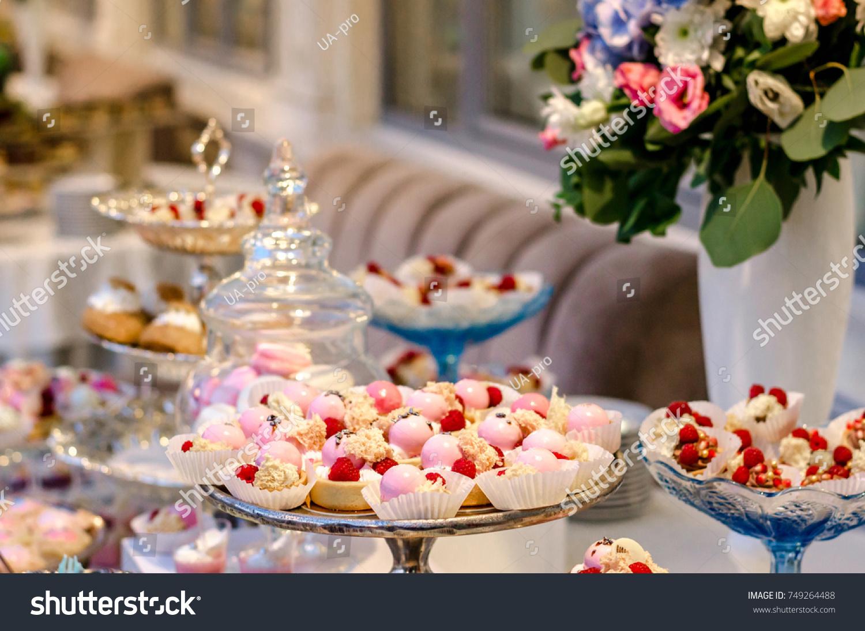 Delicious Wedding Reception Candy Bar Dessert Stock Photo Safe To