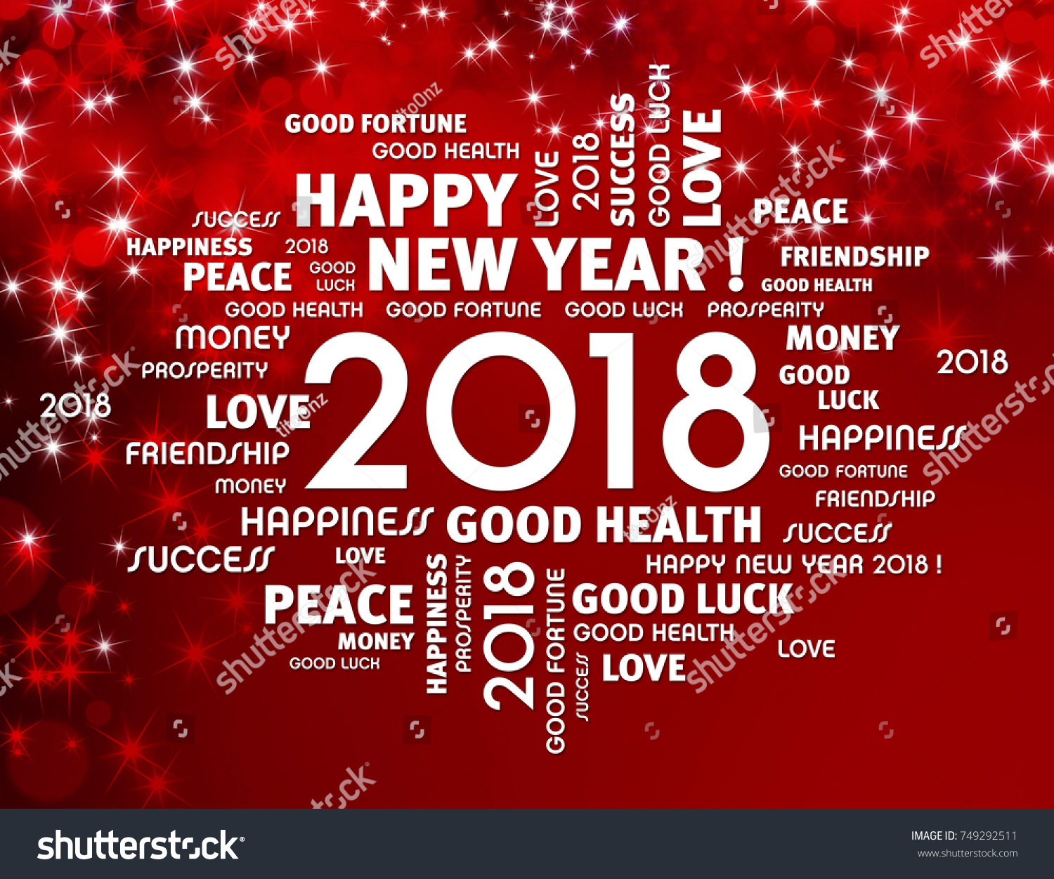 Greeting words around year 2018 typescript stock illustration greeting words around year 2018 typescript on a festive red background kristyandbryce Choice Image