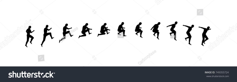 Man Running Jumping Sequence Vector Illustration Stock-Vektorgrafik ...