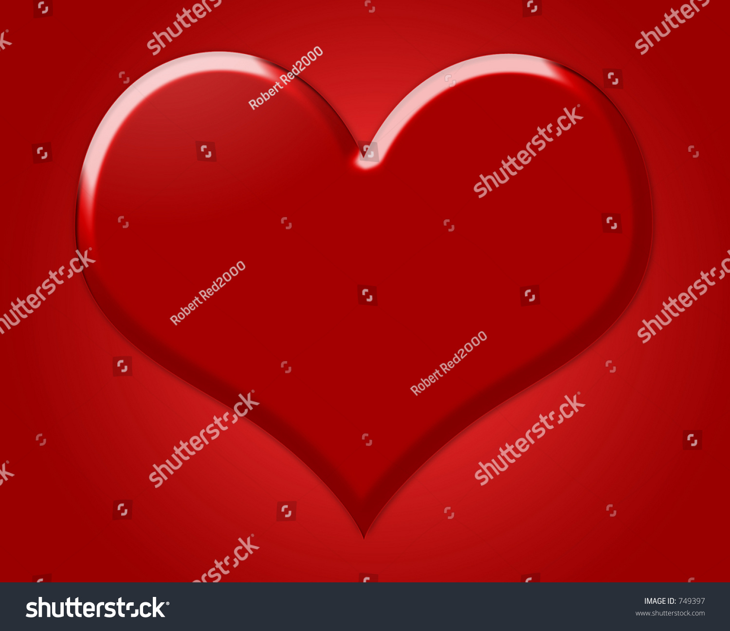 Big red heart symbol love red stock photo 749397 shutterstock big red heart symbol of love with red background buycottarizona Image collections
