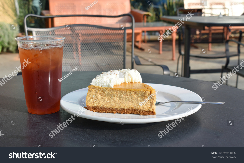 Cafe Restaurant Dessert Scene Plated Pumpkin Stock Photo Edit Now
