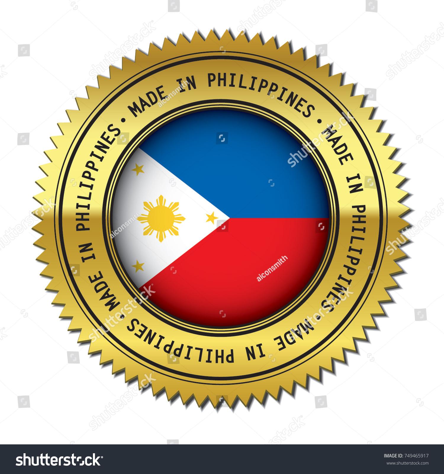 Made philippines golden badge flag symbol stock vector 749465917 made in philippines golden badge with the flag symbol of philippine flag in the center buycottarizona Images