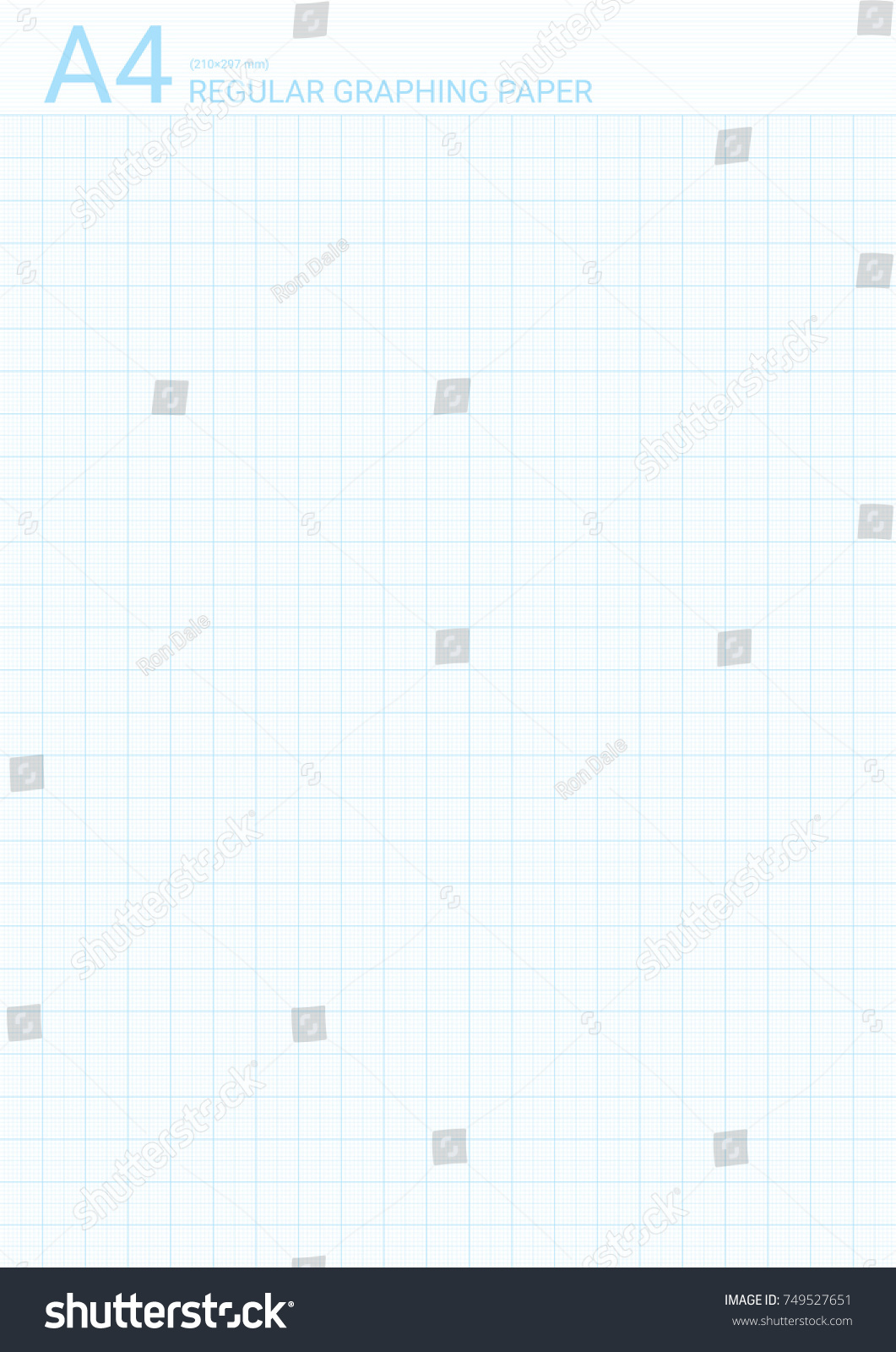 Graph Paper Background Vector Blue Plotting Stock Vector 749527651 ...