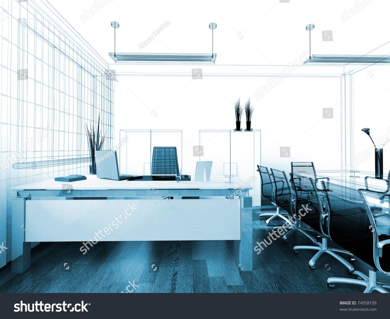 modern interior office stock. Modern Interior Office 3 D Image Stock Illustration 74958109 - Shutterstock E