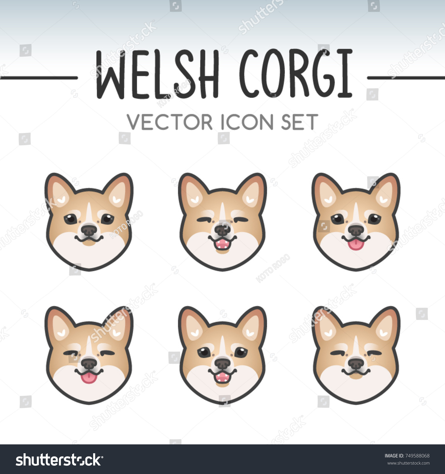 Must see Japanese Chubby Adorable Dog - stock-vector-cute-welsh-corgi-pembroke-dog-breed-vector-icon-sticker-set-inspired-by-kawaii-japanese-anime-style-749588068  Pictures_40663  .jpg