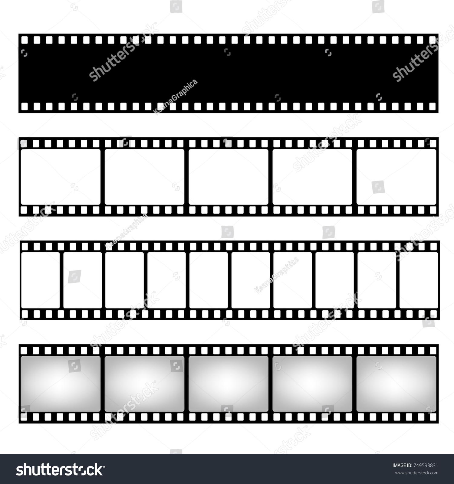 Film Strip Collection Vector Template Cinema Stock-Vektorgrafik ...