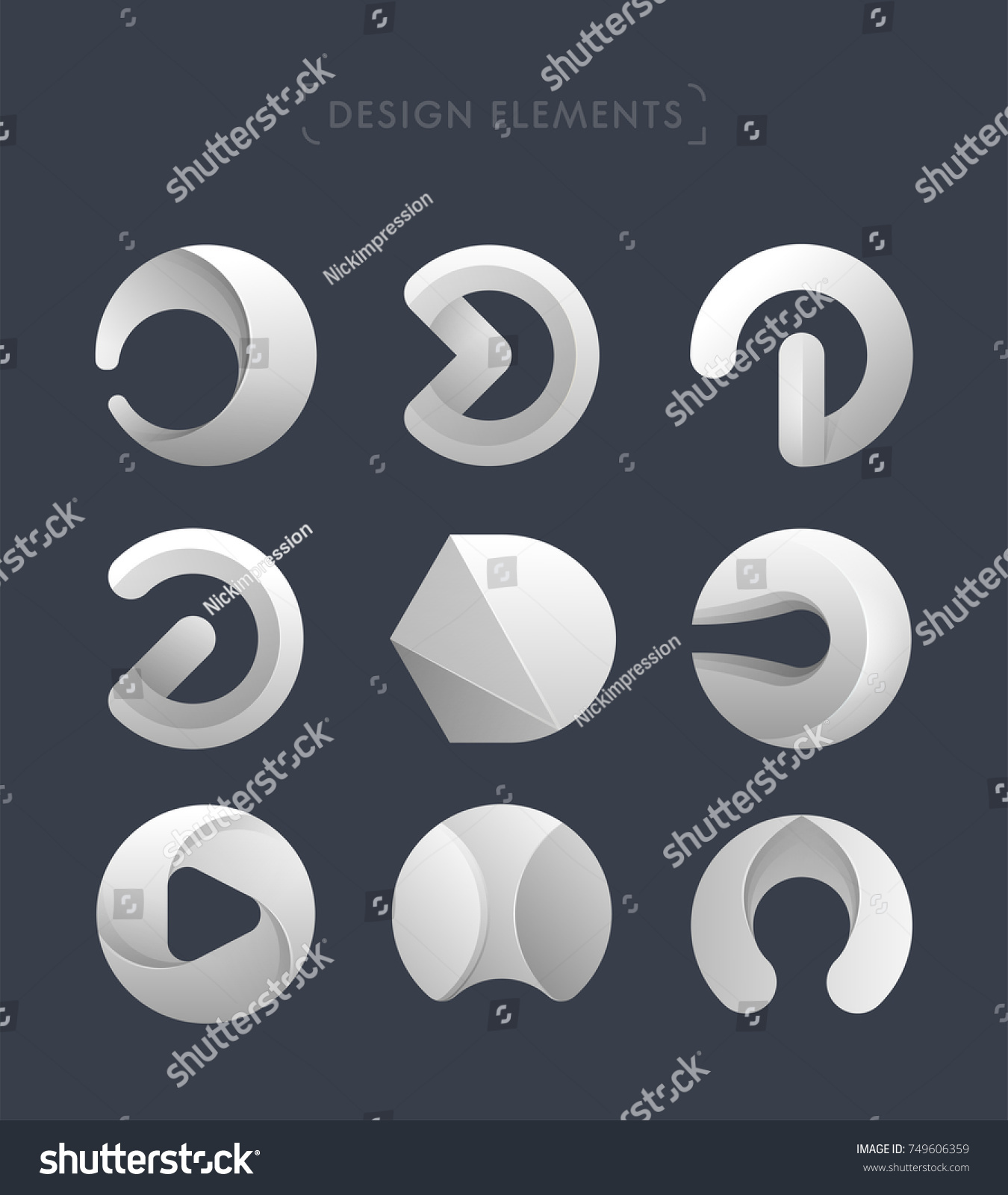 Big Set Letter D Rounded Ellipse Stock Vector HD (Royalty Free ...