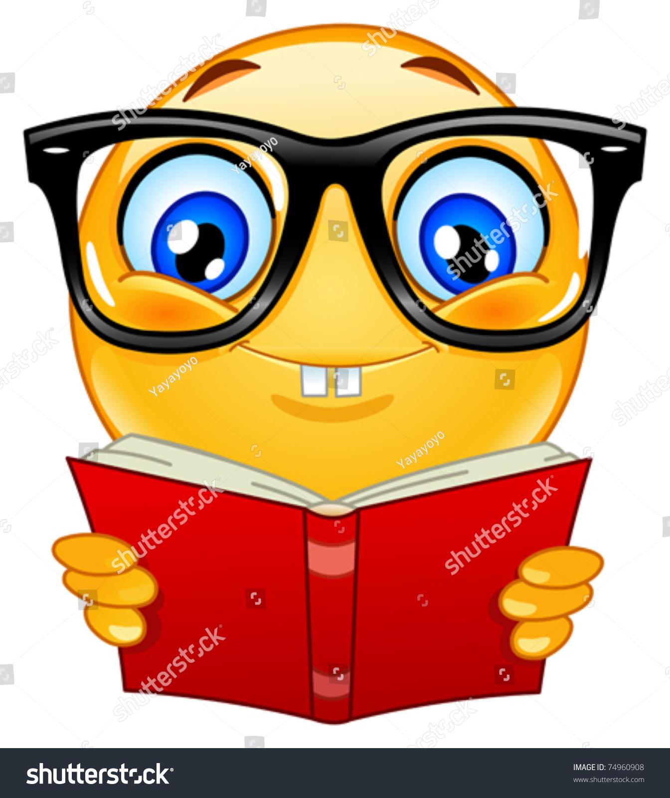 Nerd Emoticon Stock Vector Illustration 74960908 : Shutterstock