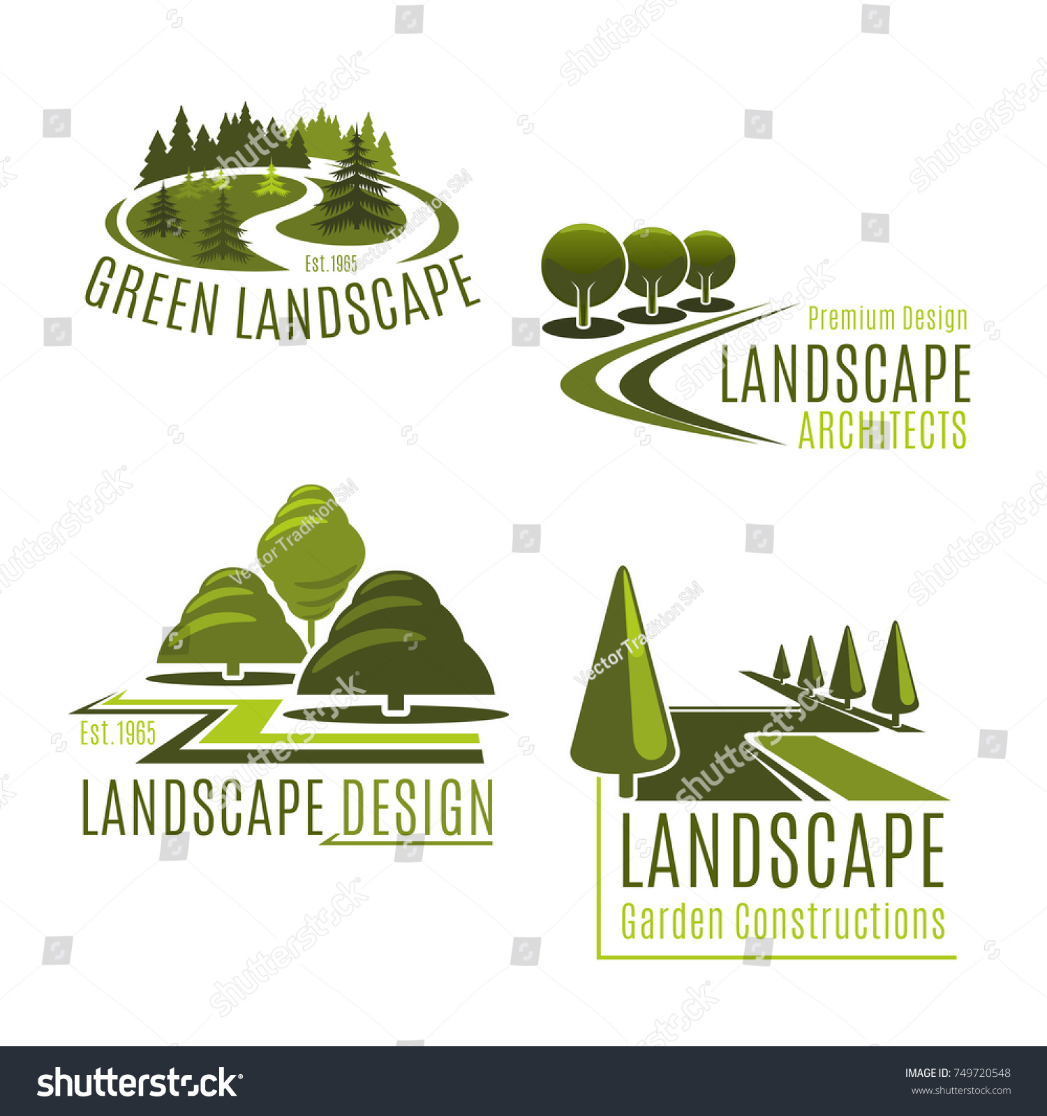 Gardening Green Landscape Design Company Icons Image Vectorielle  # Bordure De Jardin Green Park