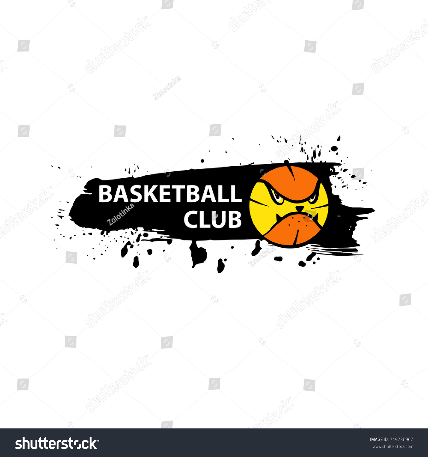 Template Image Ball Basketball Game Concept Stock Vector Royalty - Game concept template