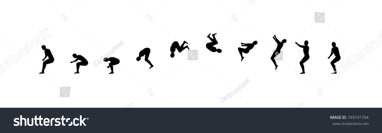 Man Running Jumping Sequence Vector Illustration Stock Vector ...