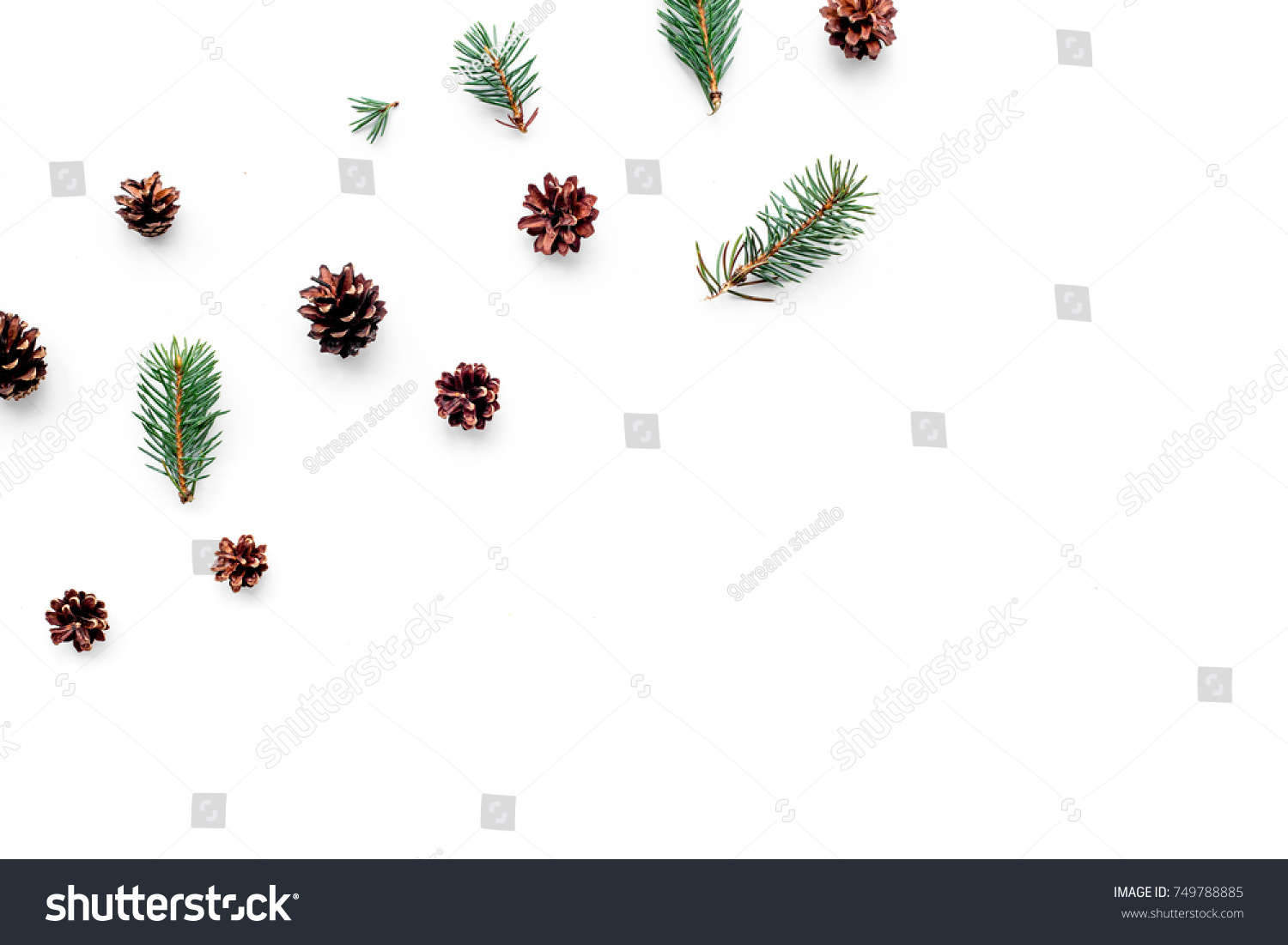 New year symbols pattern spruce branches stock photo 749788885 new year symbols pattern spruce branches and cones on white background top view copyspace biocorpaavc Image collections