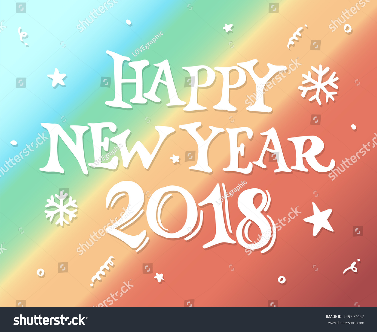 Happy new year 2018 drawn style stock vector royalty free happy new year 2018 drawn style for new year greeting card and poster element vector m4hsunfo