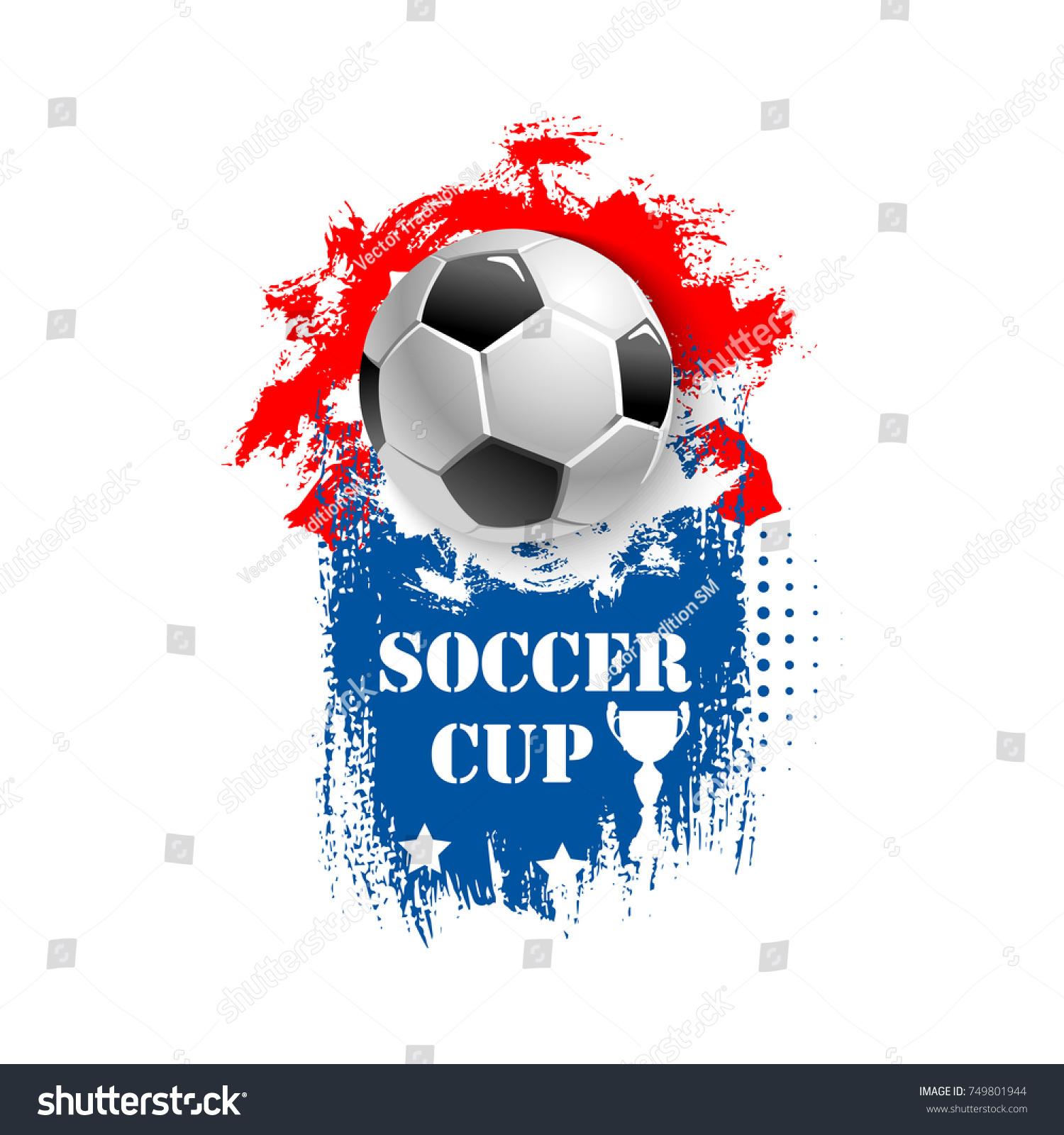 Soccer cup emblem template football sport stock vector 749801944 soccer cup emblem template for football sport tournament or championship vector design of football ball buycottarizona
