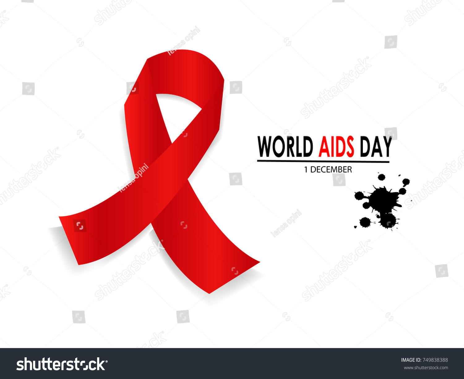 Red ribbon symbol world aids awareness stock vector 749838388 red ribbon symbol for world aids awareness day 1 december isolated background buycottarizona Image collections