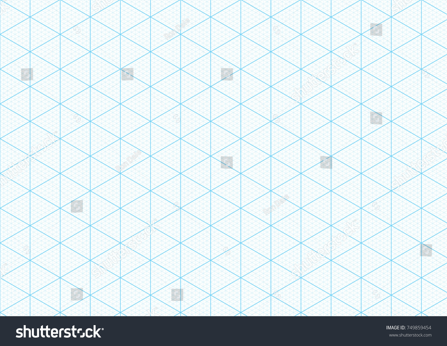 Isometric Graph Paper Background With Plotting Triangular And Hexagonal  Ruler Guide Line Grid Texture For Engineering