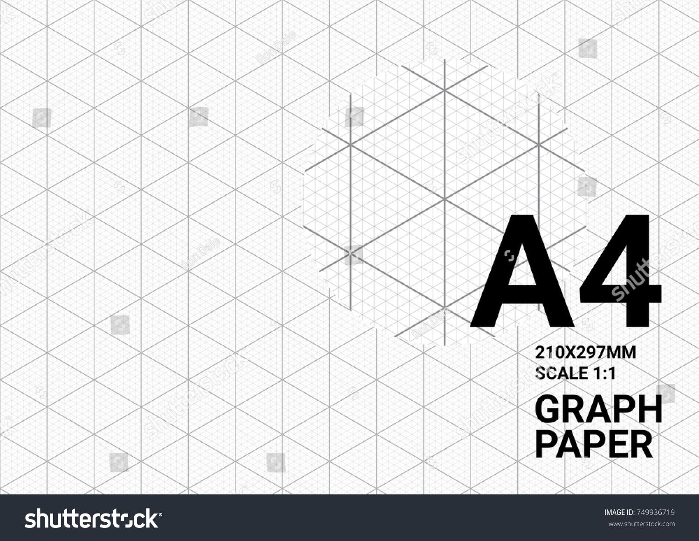 Graph Paper Design Template | Isometric Graph Paper Background Plotting Triangular Vector De Stock
