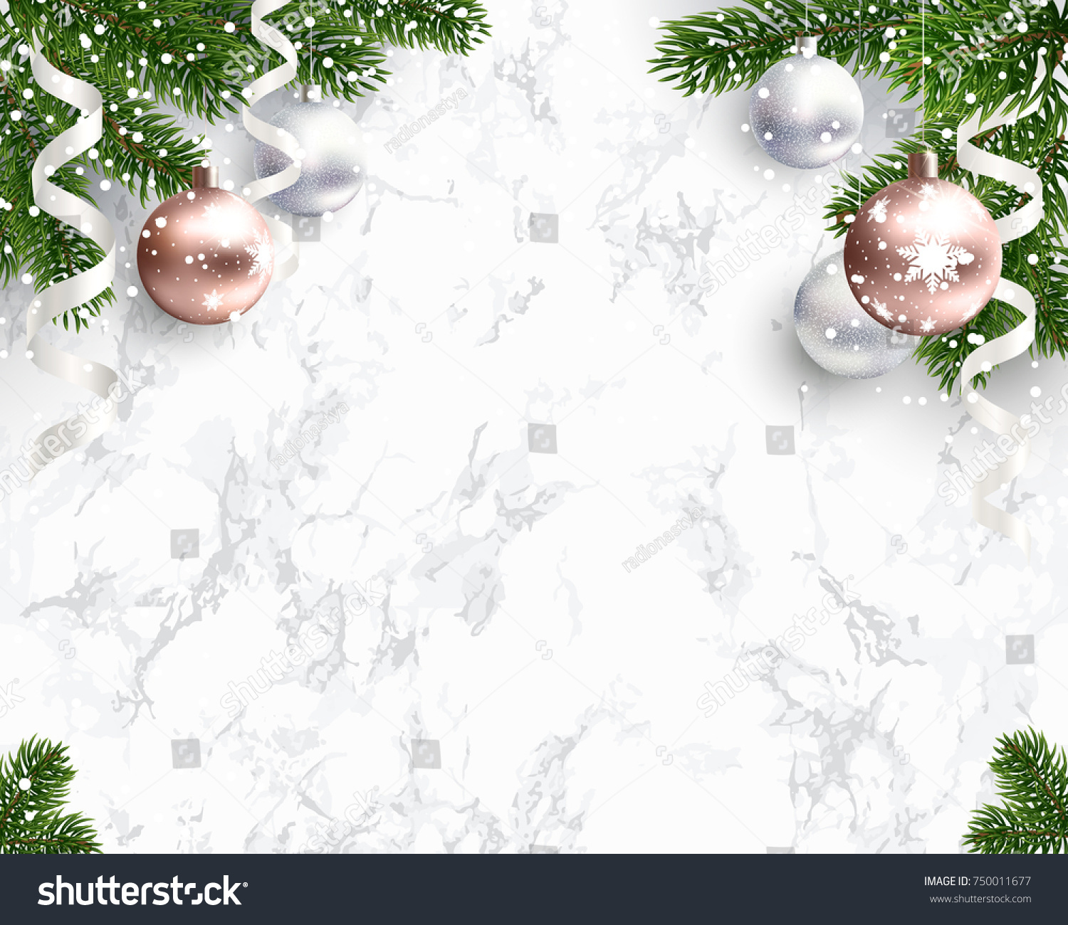 blank christmas background congratulations white marble stock vector