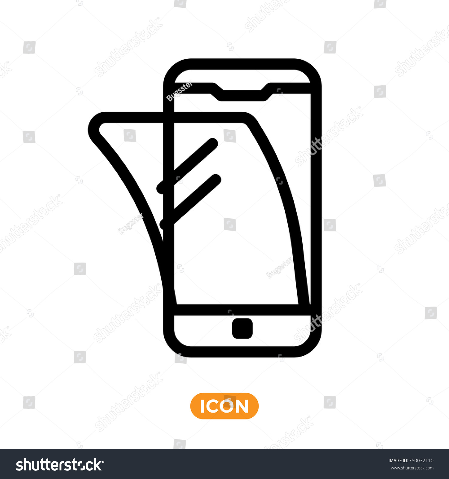 Screen Protection of Smartphone in vector flat style