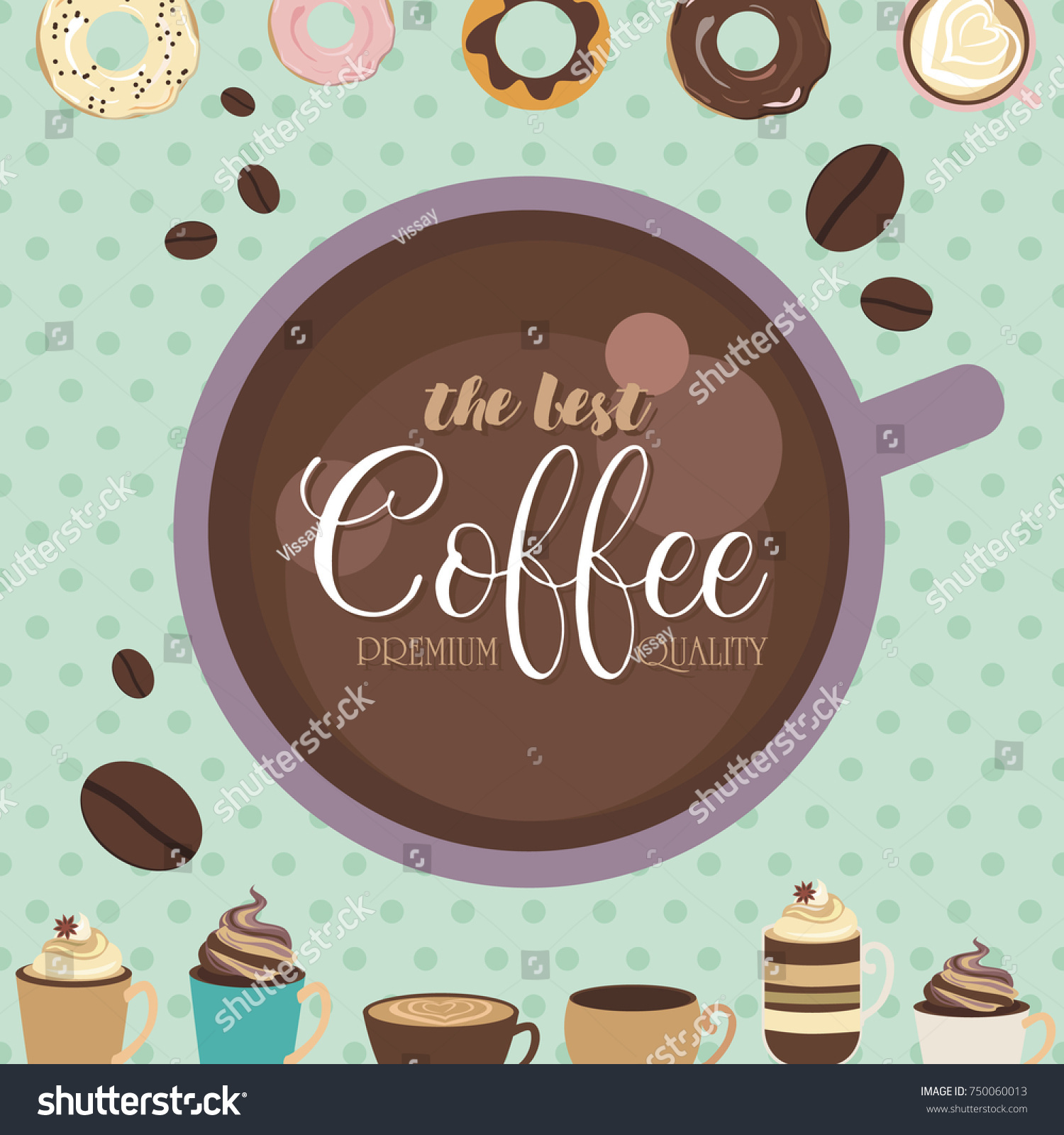 Posters Coffee Backgrounds Trendy Templates Flyers Stock Vector
