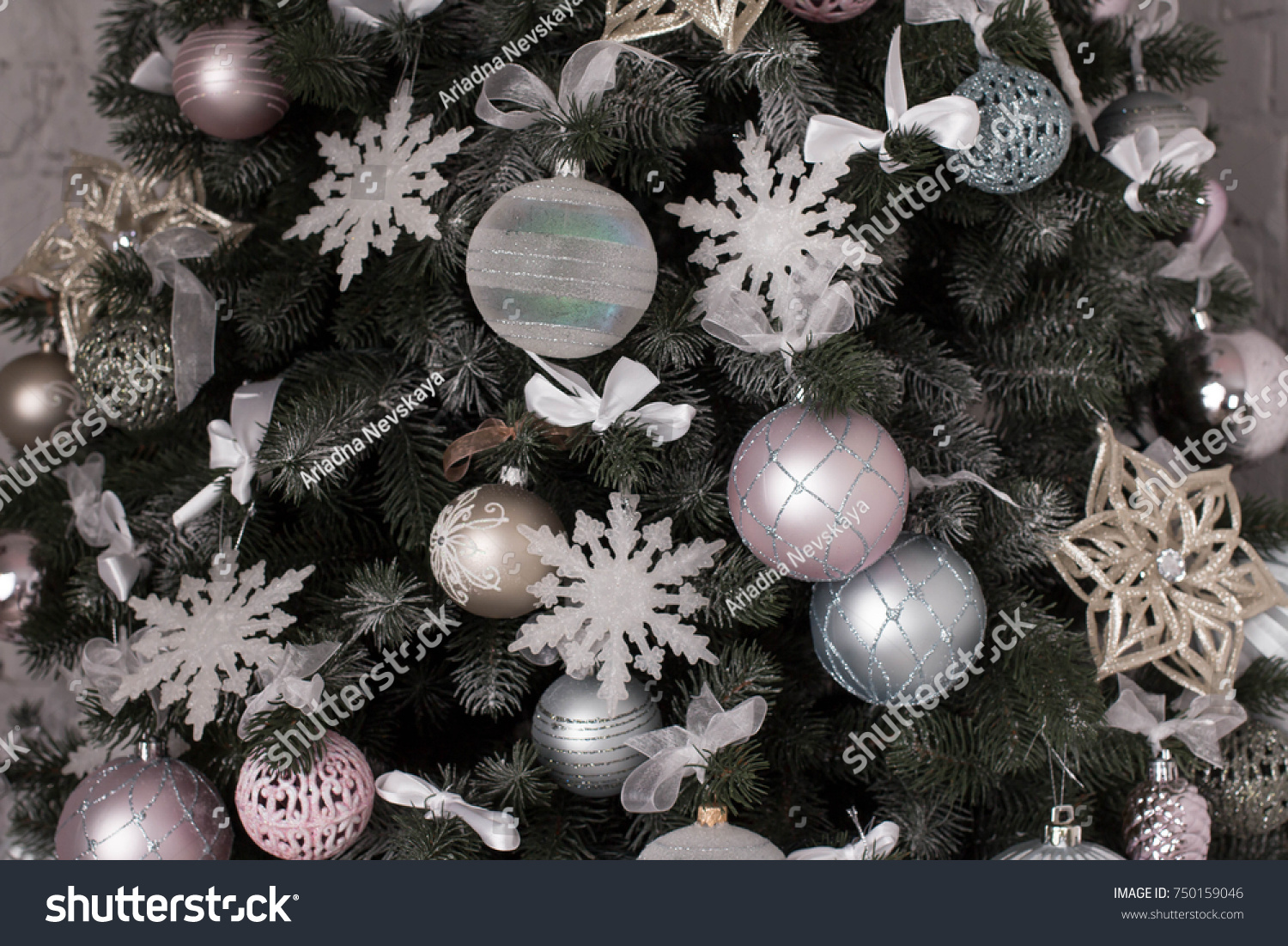 New Year Background Grey Light Pink Stock Photo Edit Now 750159046