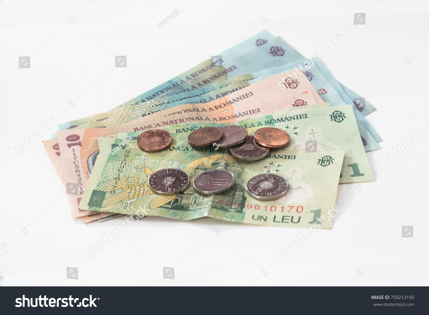 Several Banknotes Worth 100 10 1 Stock Photo (Edit Now) 750213190