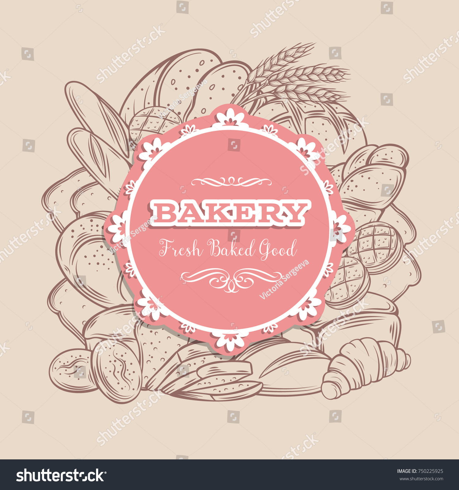 Food Template Banner Frame Bread Product Stock Vector Royalty Free