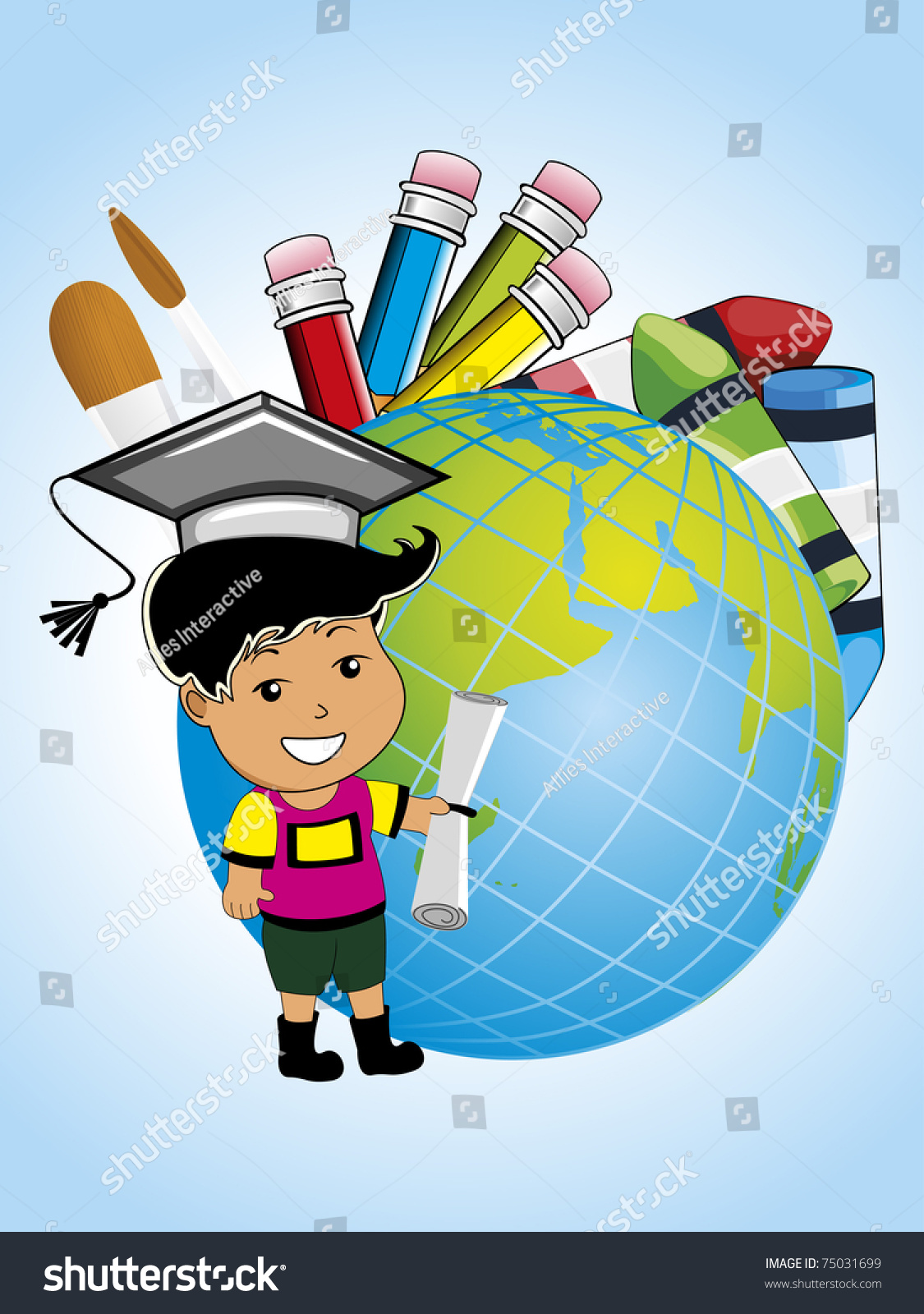 Abstract Educational Background Education Supplies Vector Stock ...