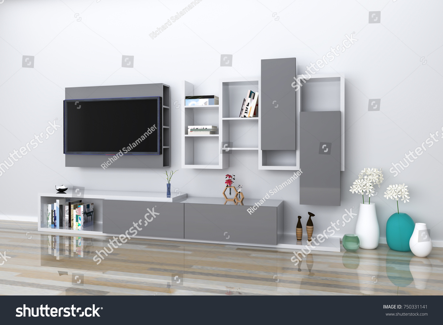 Modern furniture design tv stand and entertainment center with decorations glossy materials home interior design software programs project management