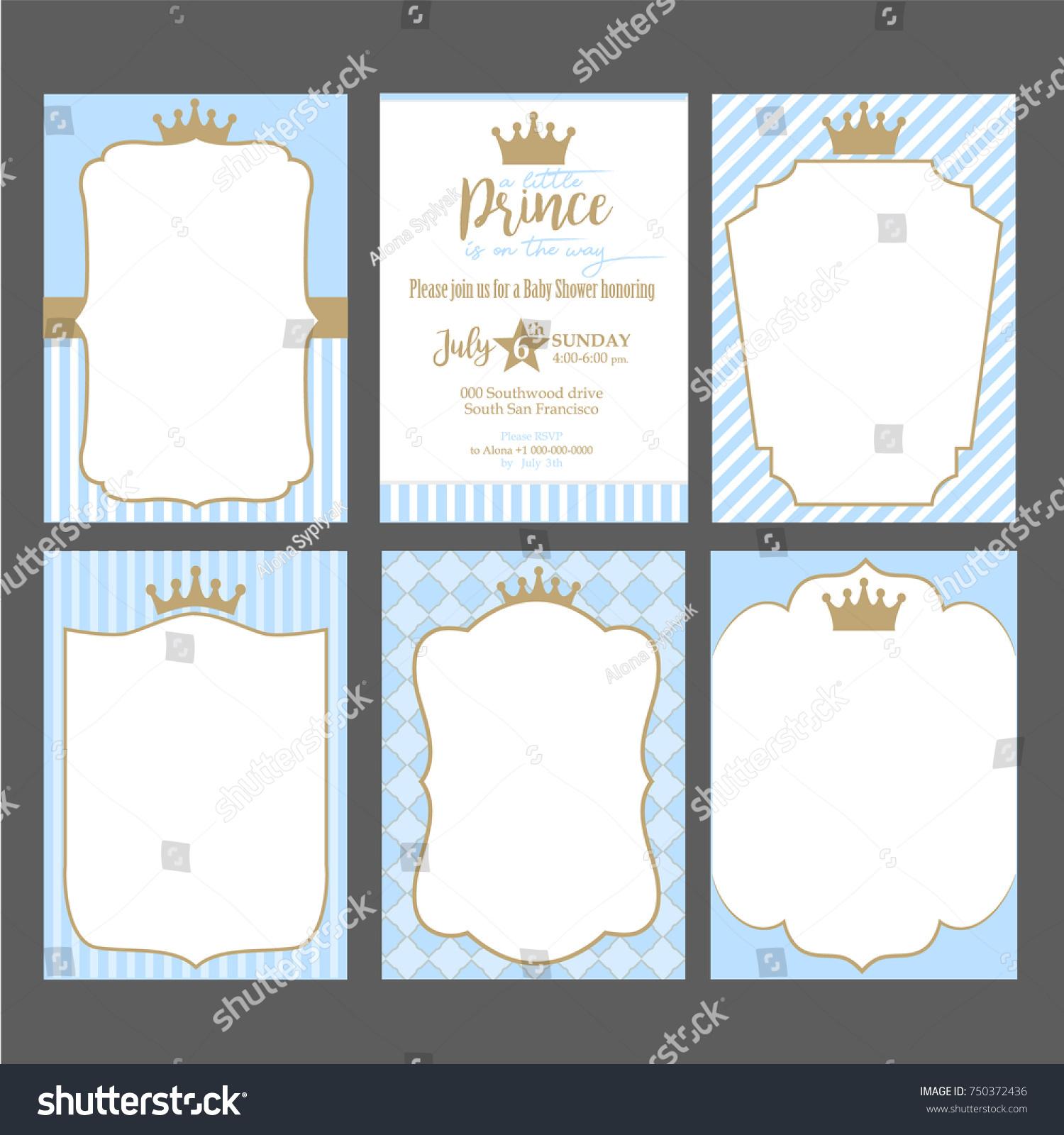 Prince baby shower invites little prince ba shower invitations ba.