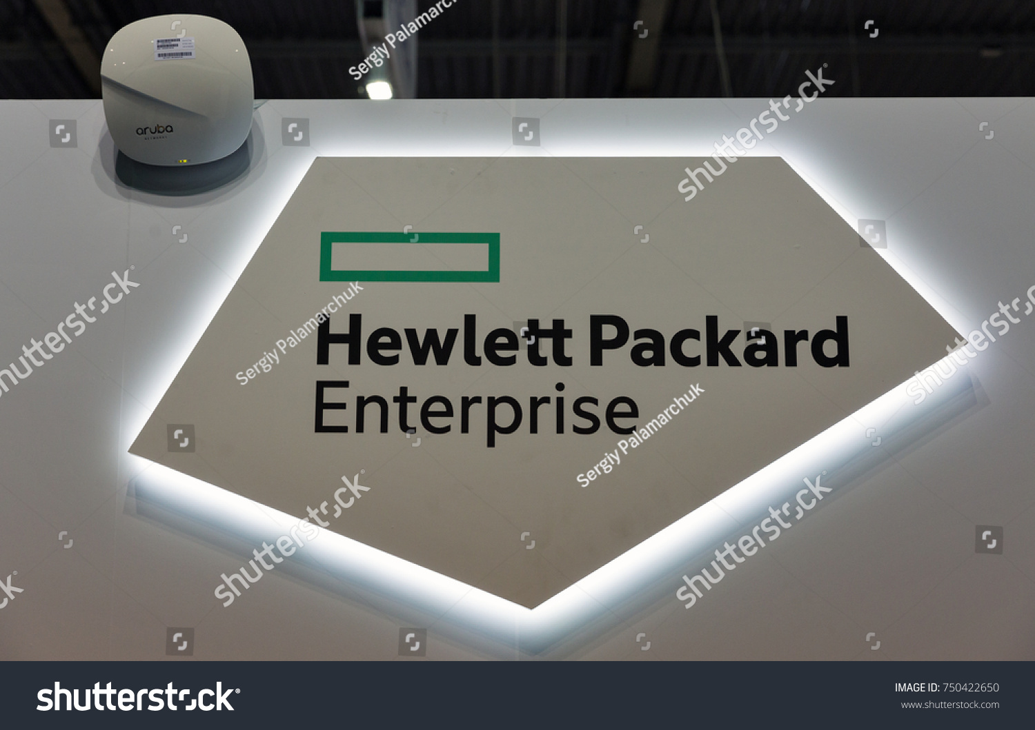Kiev Ukraine October 07 2017 Hewlett Packard Stock Photo Safe To