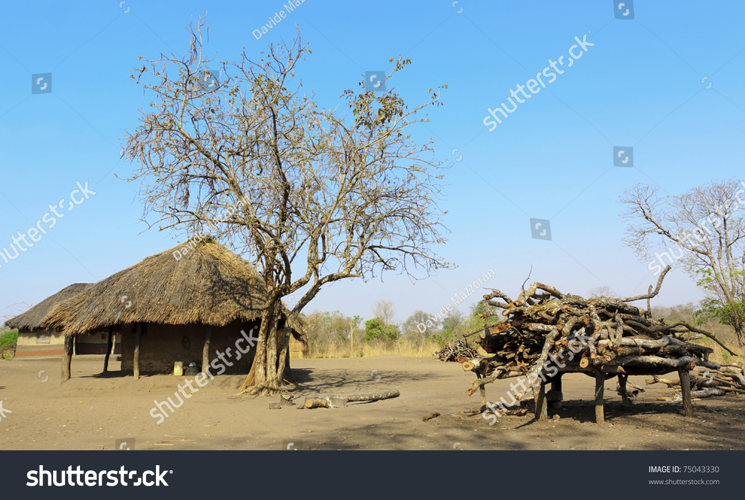 Typical Subsaharan African House Made Mud Stock Photo Edit Now
