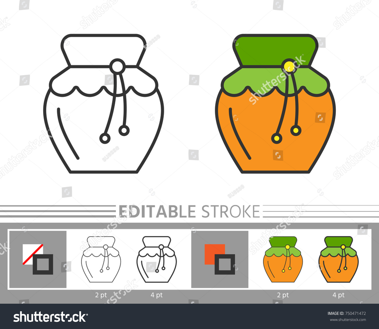 Honey Linear Icon Without Colour Fill Stock Vector 750471472 ...