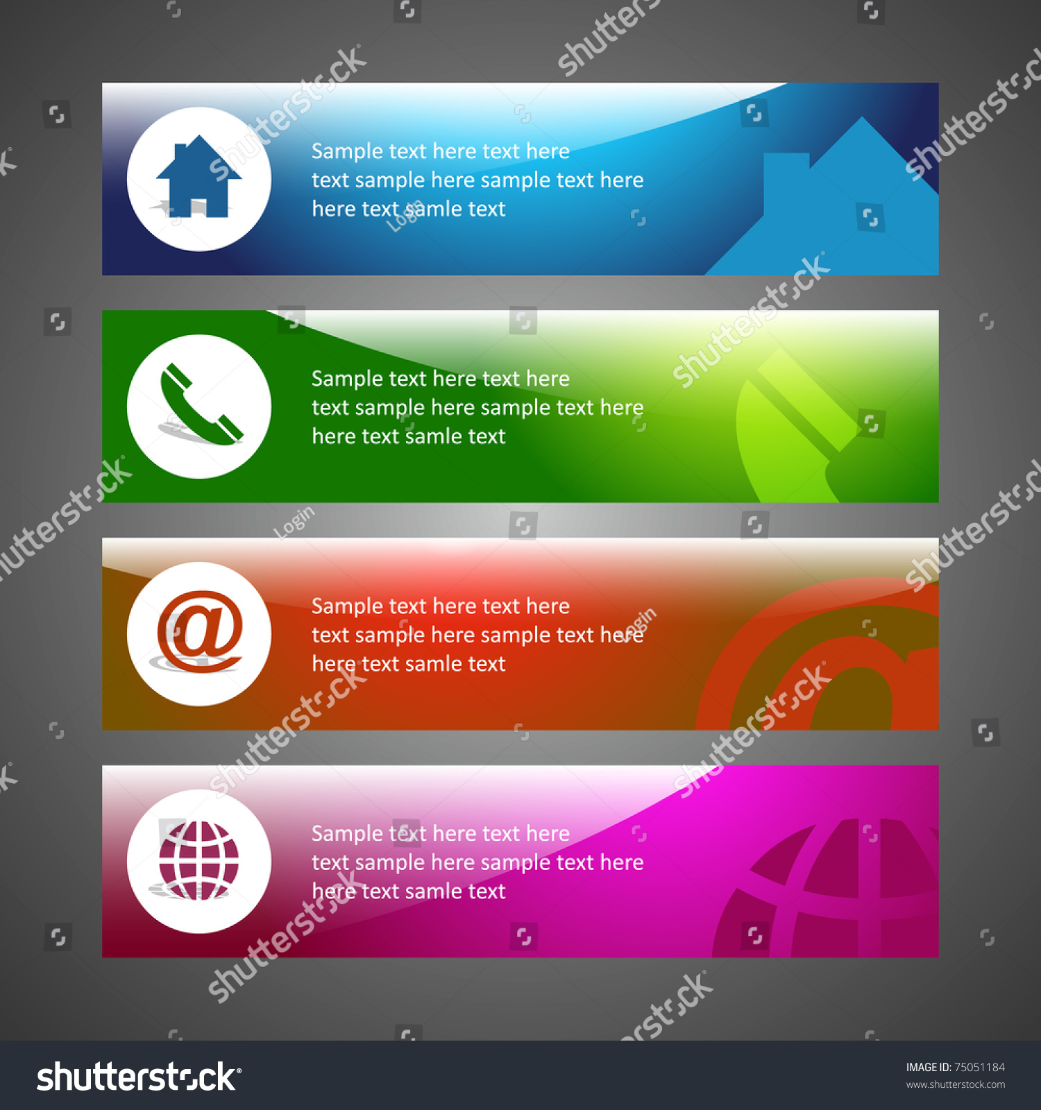 Background image email support - Creative Header Design Background Template Email Home Phone Internet Support