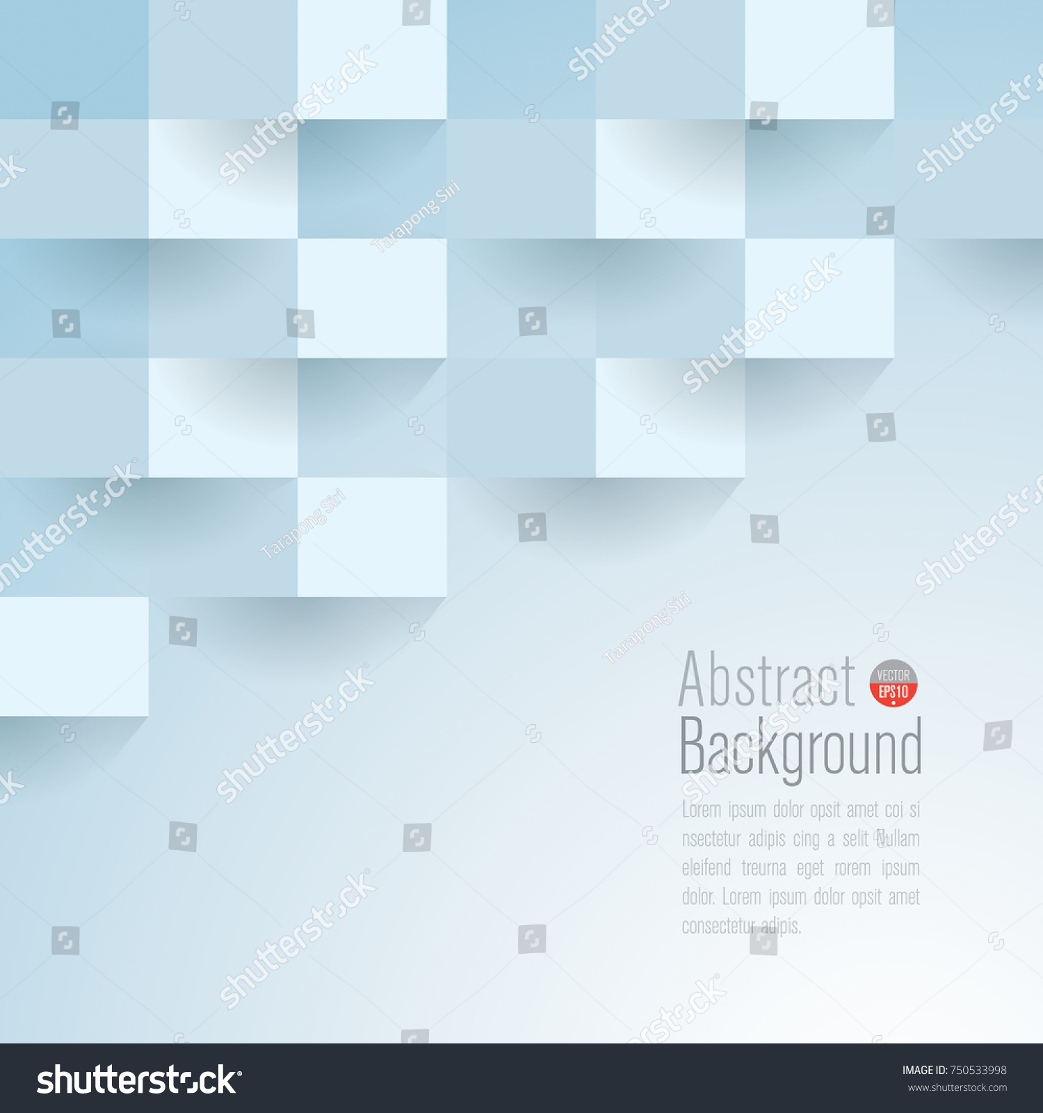 Light Blue Abstract Texture Vector Background Stock Vector 750533998