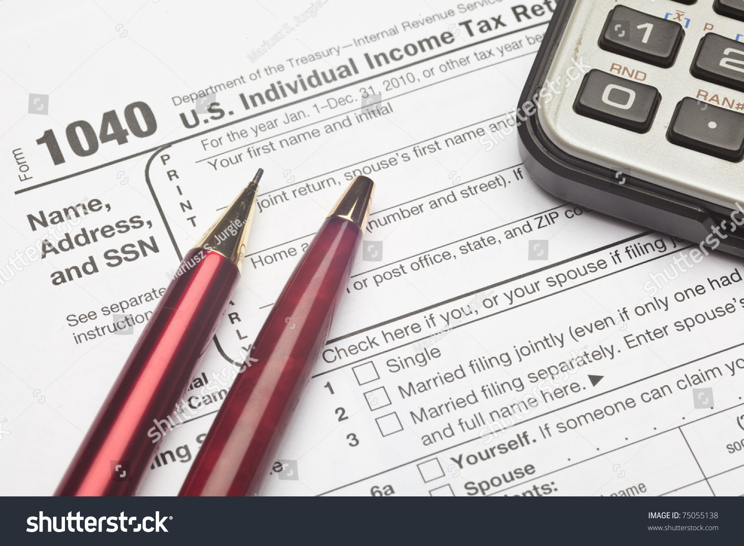 Form 1040 us individual income tax stock photo 75055138 shutterstock the form 1040 us individual income tax return is the starting form for personal falaconquin