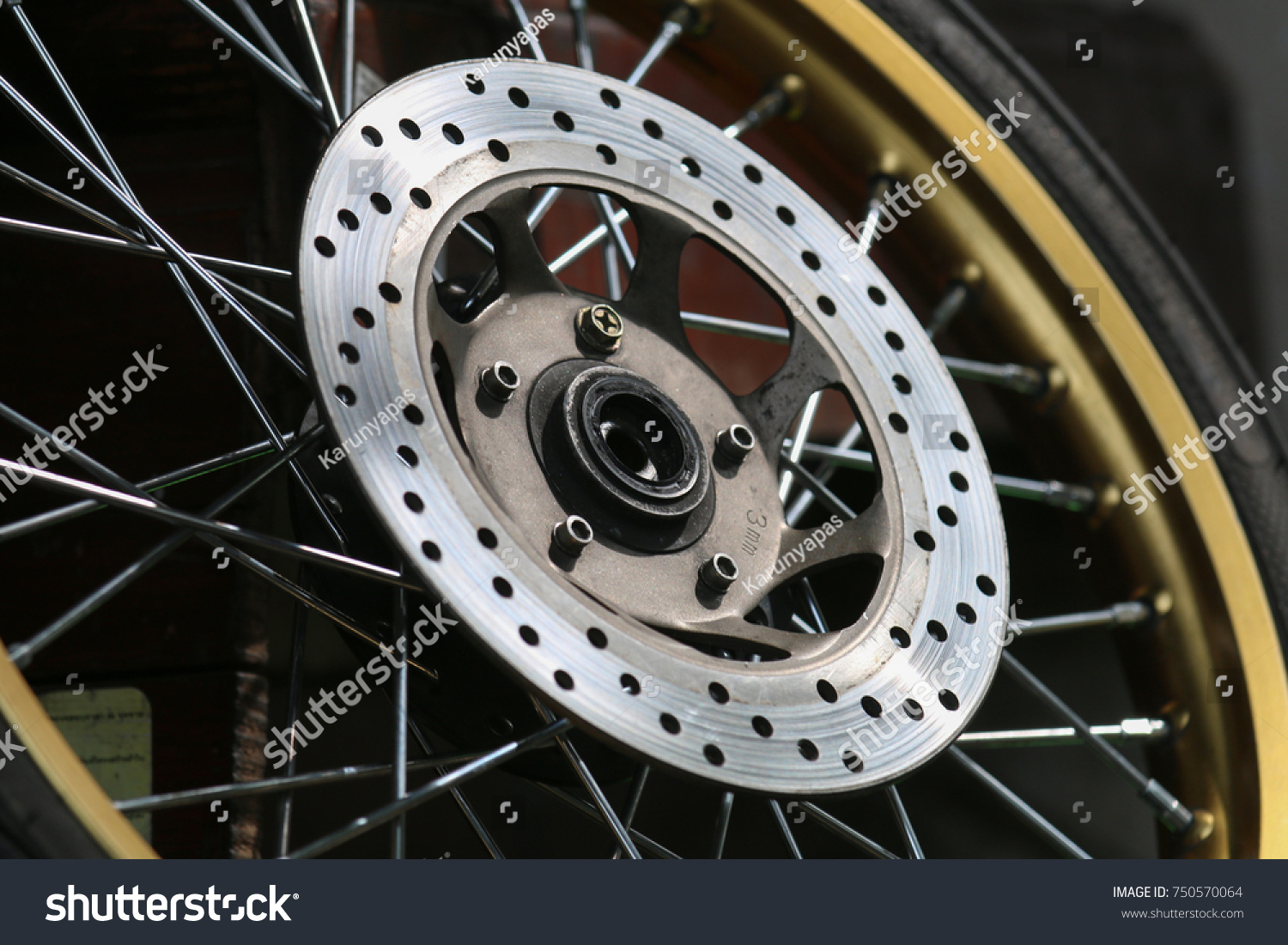 Light Shadow Disc Brakes Motorcycle Stock Photo Edit Now 750570064 And With