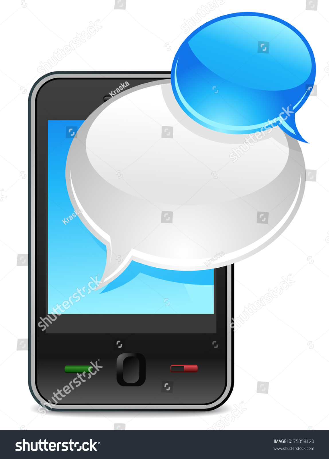mobile phone text message balloons or chat box