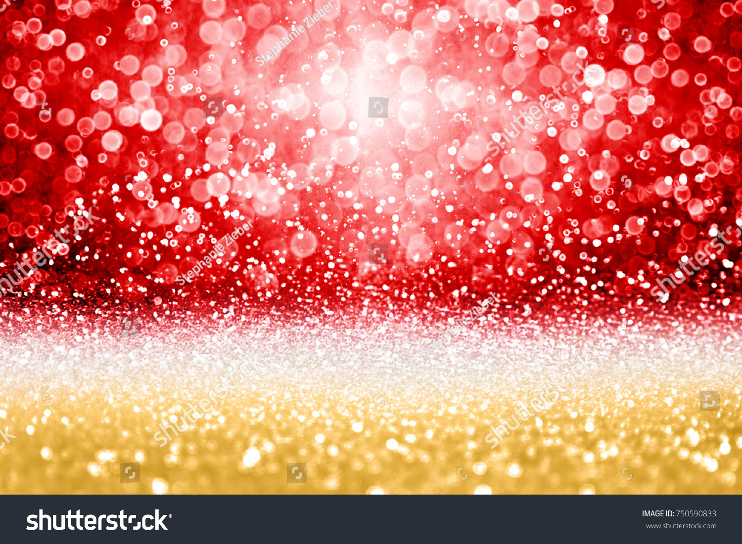 Elegant Red Gold Glitter Sparkle Confetti Stock Photo (Edit Now ...
