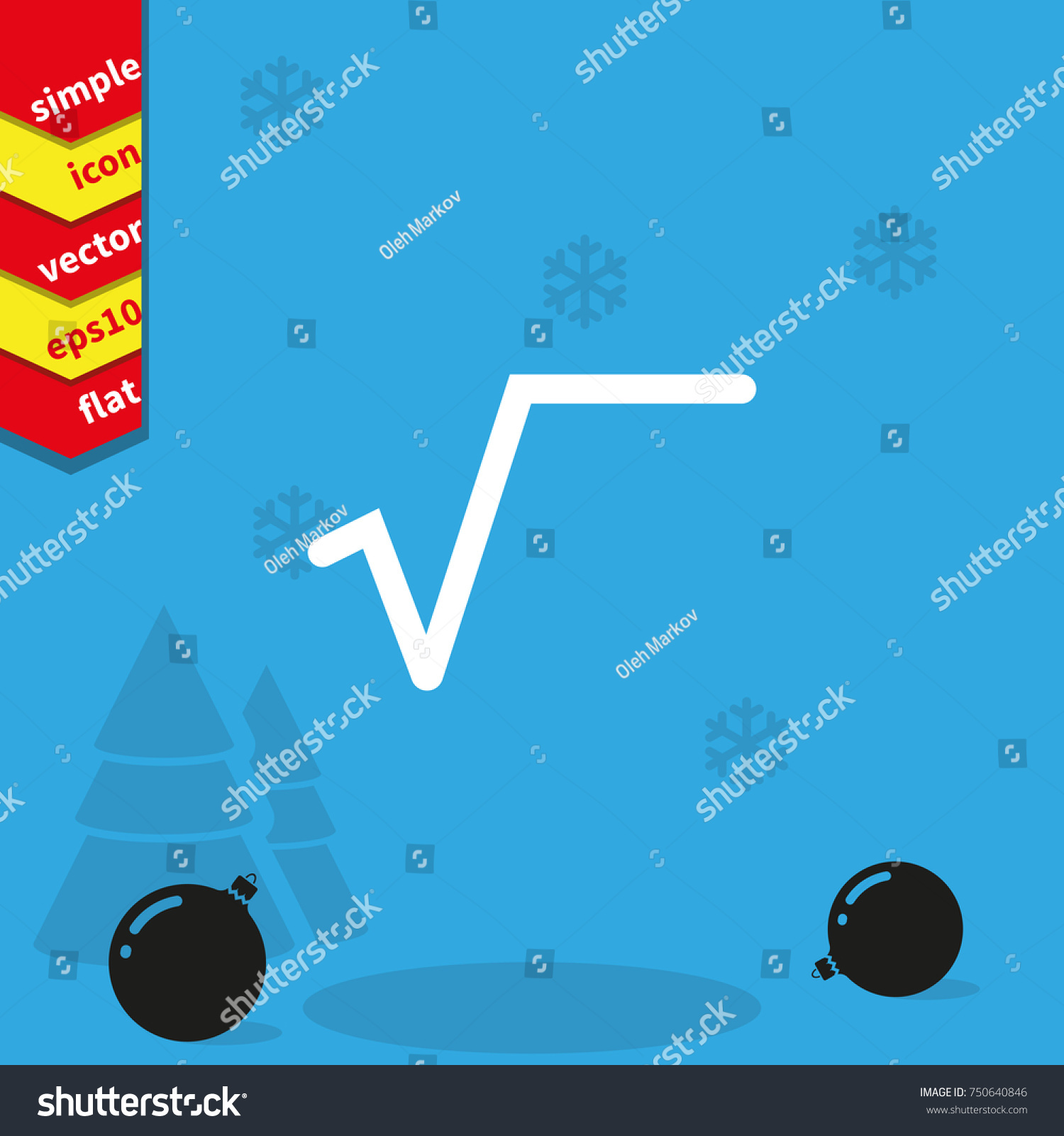Square root symbol flat icon stock vector 750640846 shutterstock square root symbol flat icon buycottarizona Images
