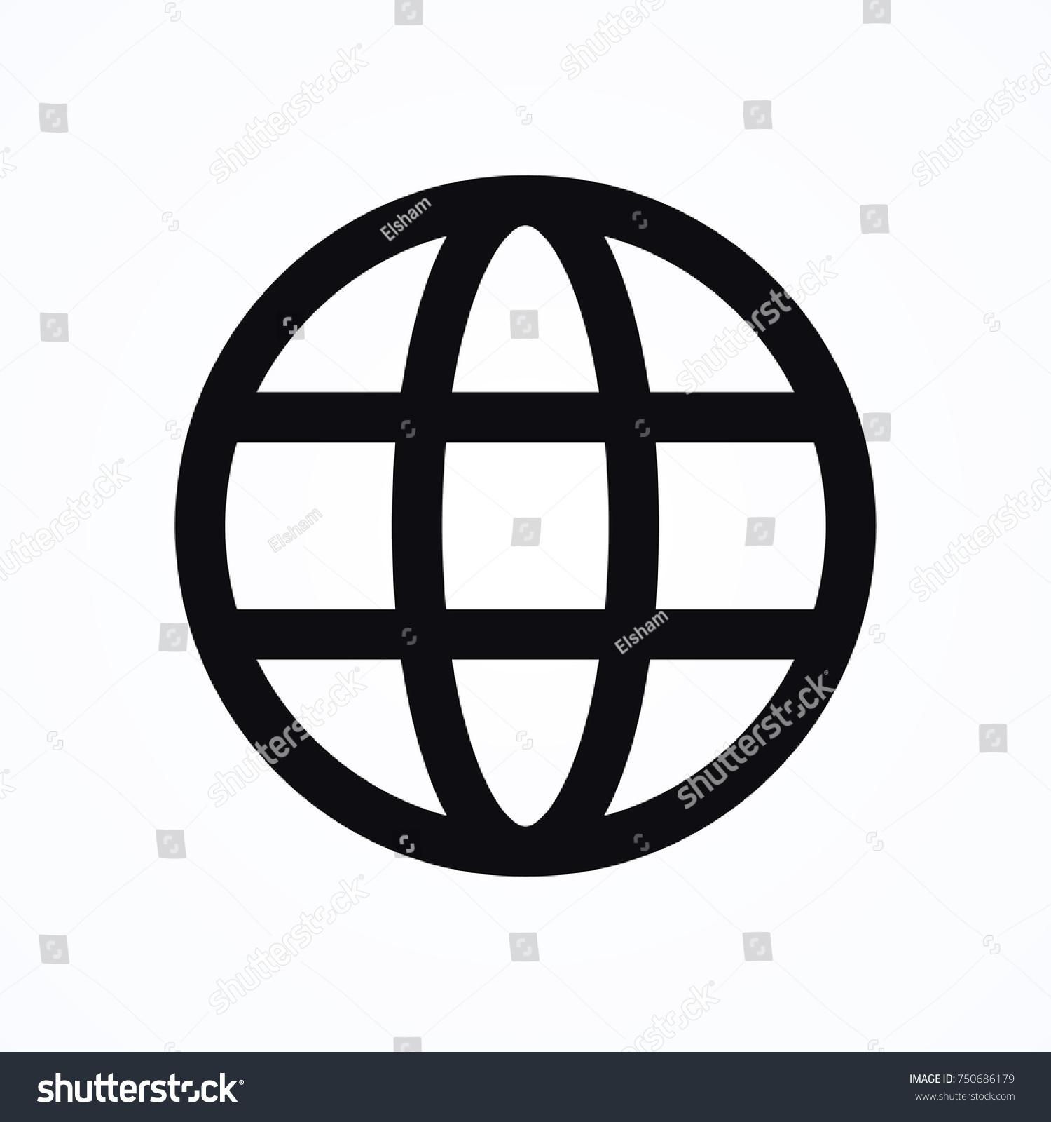 Internet Globe Icon Stock Vector (Royalty Free) 750686179